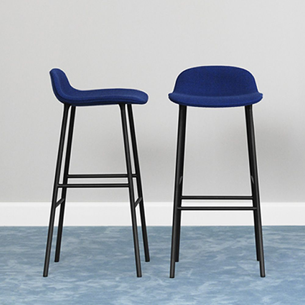 form sg up normann copenhagen metal stool padded seat covered with leather or fabric. Black Bedroom Furniture Sets. Home Design Ideas