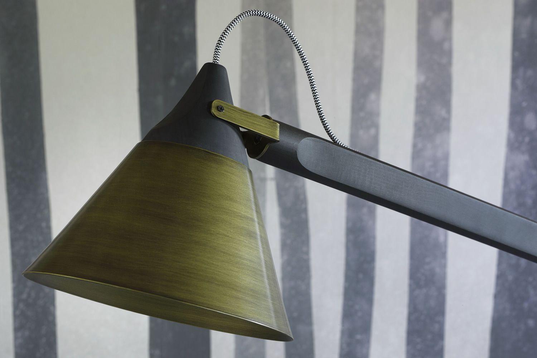 Slope B - Lampada da terra Miniforms, in legno e metallo, regolabile ...