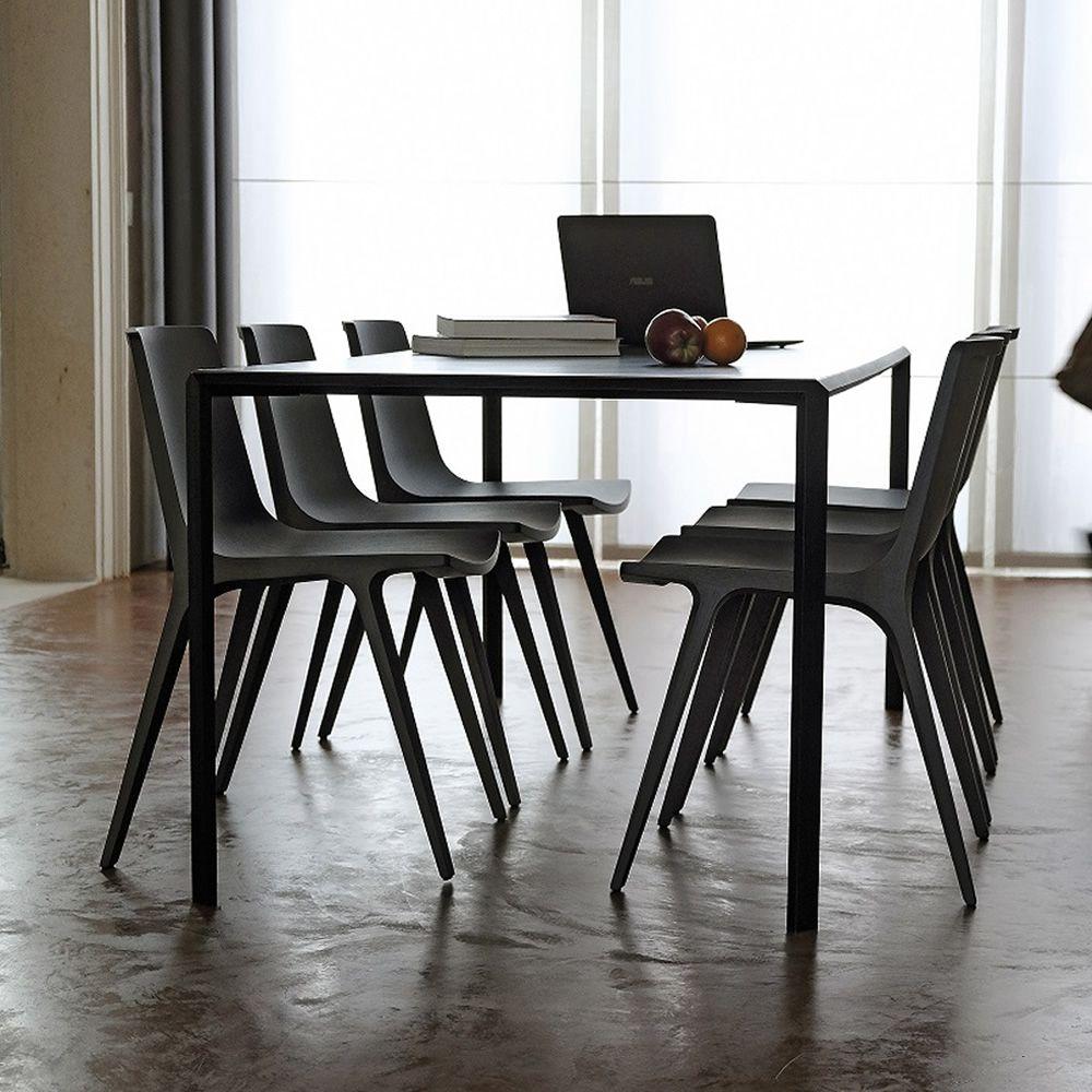 Dueperdue tavolo fisso infiniti in metallo piano in - Piano tavolo legno ...