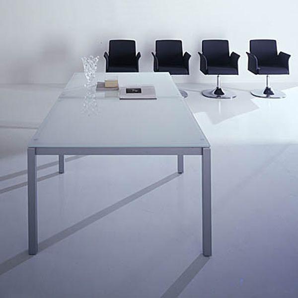 Office X4 Meet Glass - Tavolo da riunione, struttura in metallo e ...