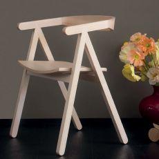 A-Chair - Fauteuil Valsecchi en bois de frêne naturel