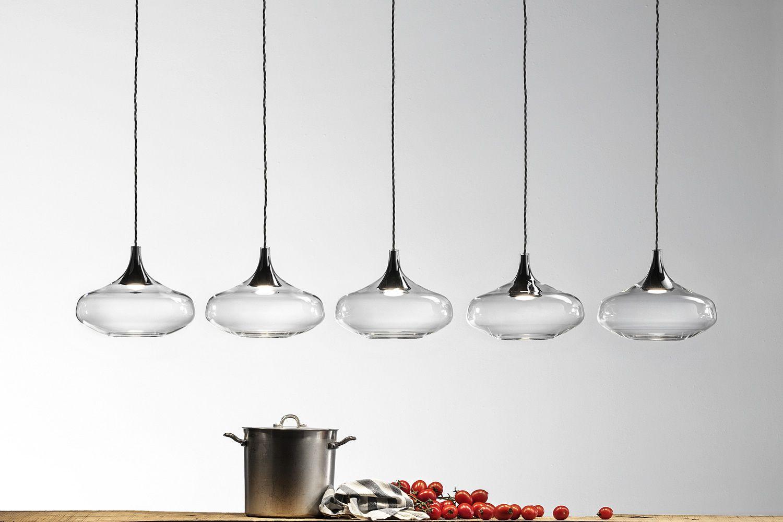 Nostalgia linear lampe design suspension en verre for Lampe design suspension