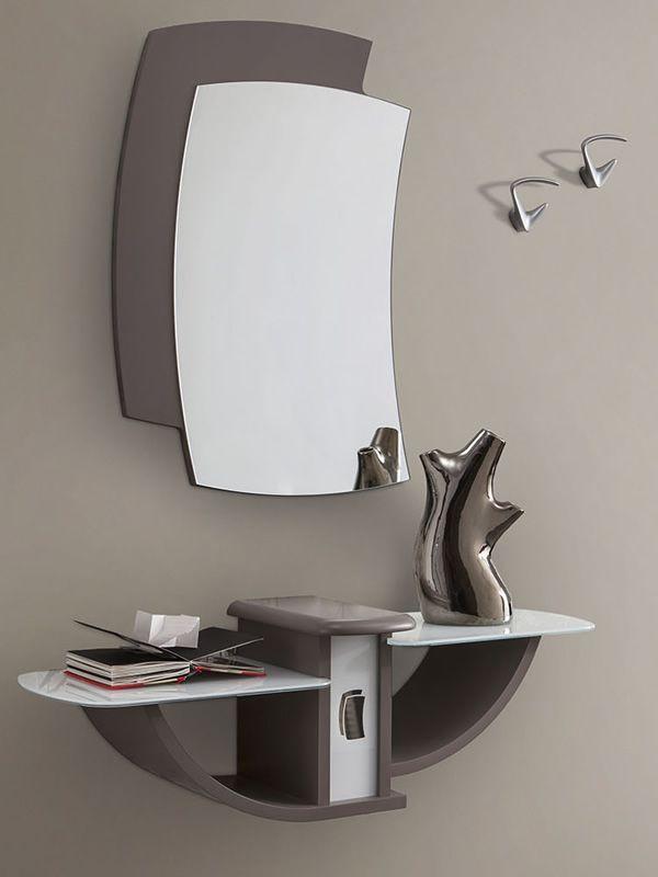 PA164: Mueble de entrada con espejo y percheros, disponible en ...