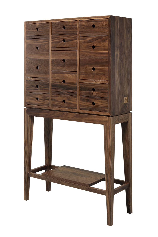 contador commode avec tiroirs en bois massif disponible en ch ne ou en noyer hauteur 146 cm. Black Bedroom Furniture Sets. Home Design Ideas