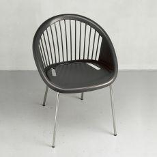 Giulia 2684 - Sessel aus Metall und Technopolymer, stapelbar, in verschiedenen Farben verfügbar, auch für den Garten