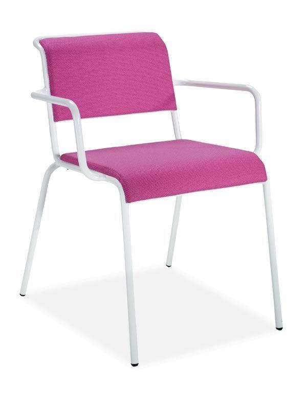 nassa p metallstuhl in verschiedenen farben mit armlehnen auch f r den au enbereich sediarreda. Black Bedroom Furniture Sets. Home Design Ideas