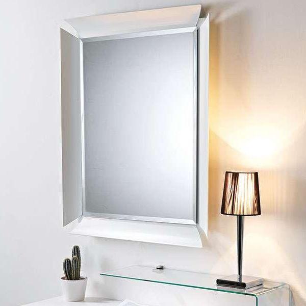 Due v mobile ingresso con vano portaoggetti specchio e mensola in vetro sediarreda - Specchio cornice bianca ...