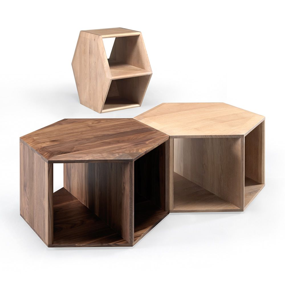 hexa petite table ou table de chevet design en bois disponible en plusieurs essences de bois. Black Bedroom Furniture Sets. Home Design Ideas