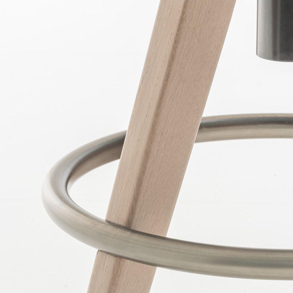 Arki stool taburete pedrali en madera y metal giratorio - Taburete madera regulable ...