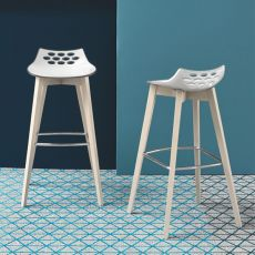 CB1485 Jam W - Connubia - Calligaris stool made of wood and technopolymer, different colours and heights available