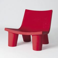 Low Lita - Slide armchair in polyethylene, different colours, also for garden