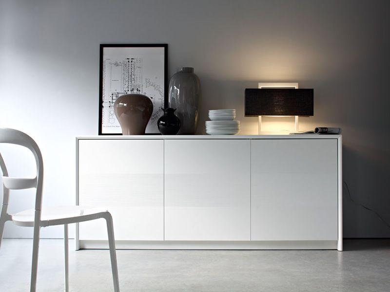 cb6031 2 password m bel anrichte connubia calligaris aus lackiertem holz drei t ren 185 x. Black Bedroom Furniture Sets. Home Design Ideas