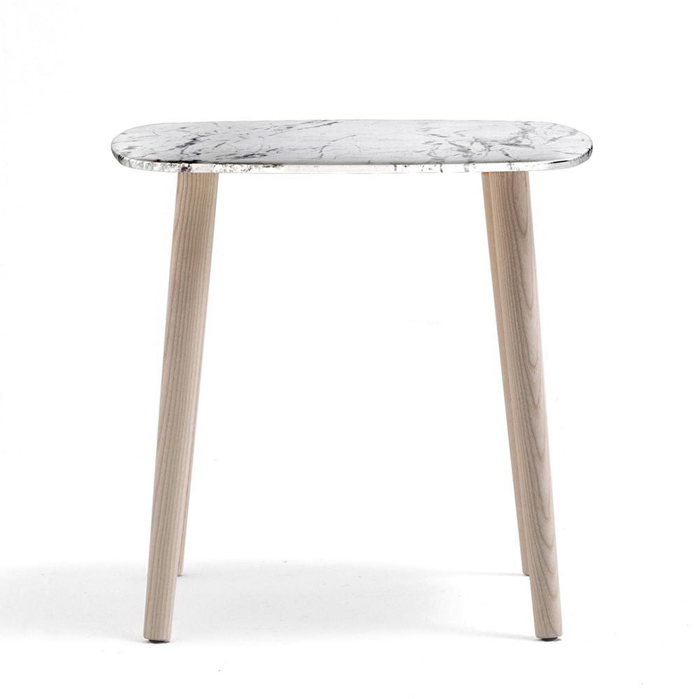 50 X 50 Square Coffee Table: Malmö TM: Pedrali Coffee Table In Wood, With Round Or