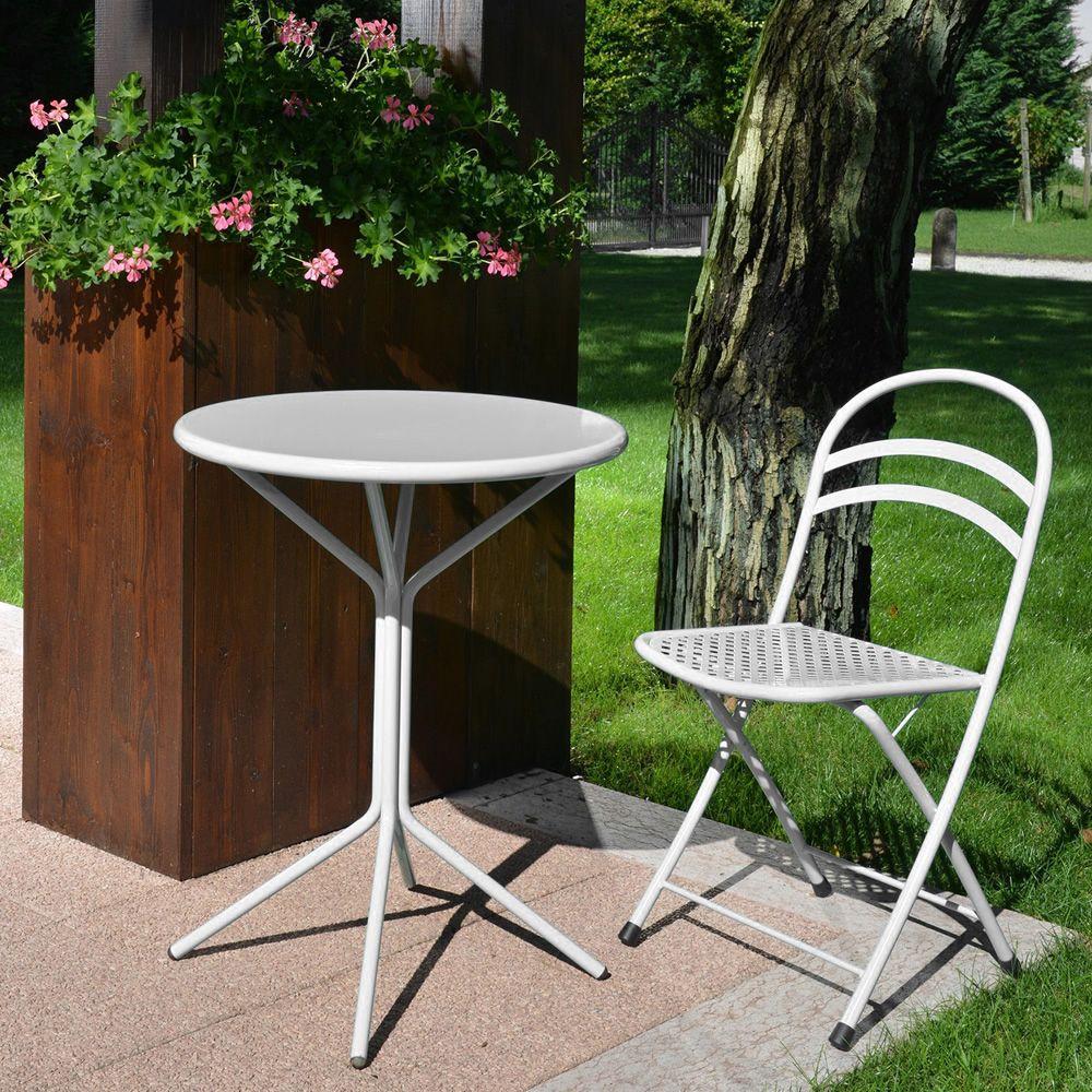 Künstlerisch Runder Gartentisch Dekoration Von Rig83 - Tisch Aus Lackiertem Metall In