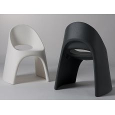 Amélie - Chair in polyethylene, stackable, different colours, also for outdoor use