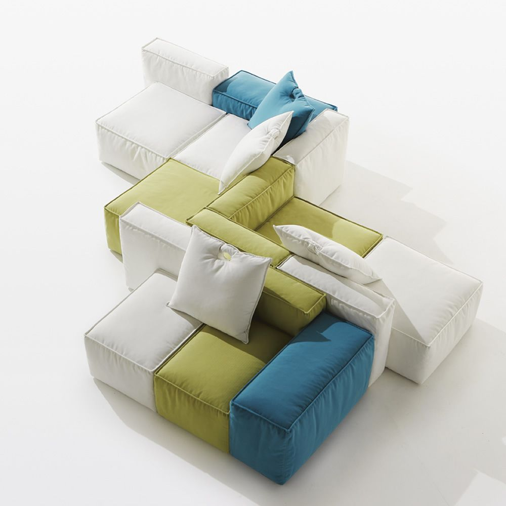 Handle per bar e ristoranti divano per locali pubblici composto da diversi moduli componibili - Divano doppia seduta ...