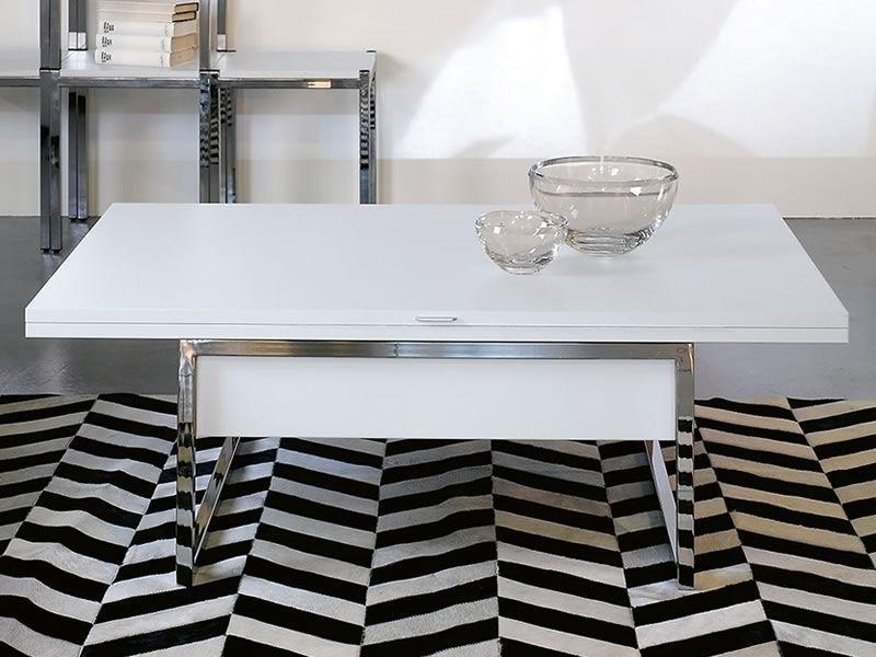 Didone r tavolino trasformabile in metallo con piano in legno