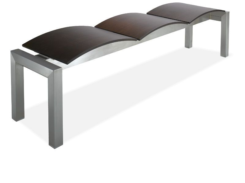 onda banc 3 places en m tal assise en cuir r g n r ou. Black Bedroom Furniture Sets. Home Design Ideas