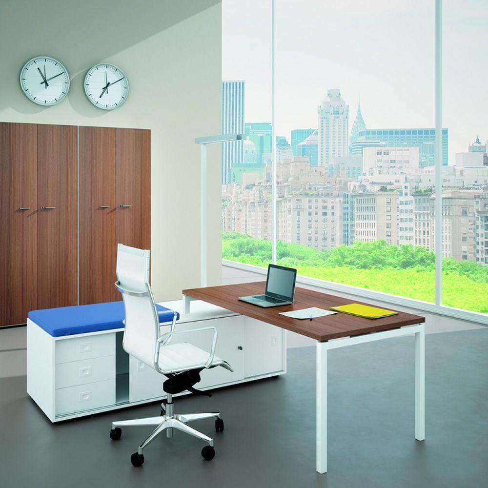 Idea ca 02 scrivania da ufficio con mobile di servizio for Scrivania con mobile