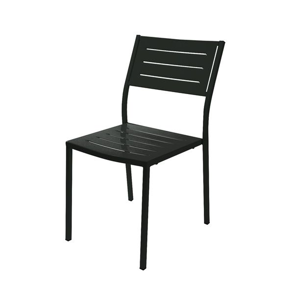 Rig72 chaise en m tal empilable en diff rentes couleurs for Chaise jardin gris anthracite