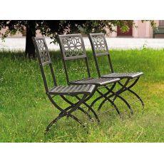 Isotta 2506 - Folding steel chair, for garden