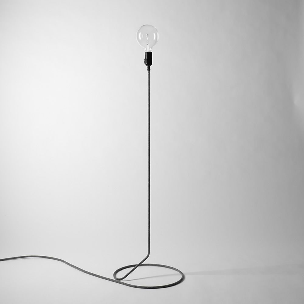 Cord lampada da terra di design cavo in acciaio rivestito in tessuto sediarreda - Lampade da terra design outlet ...