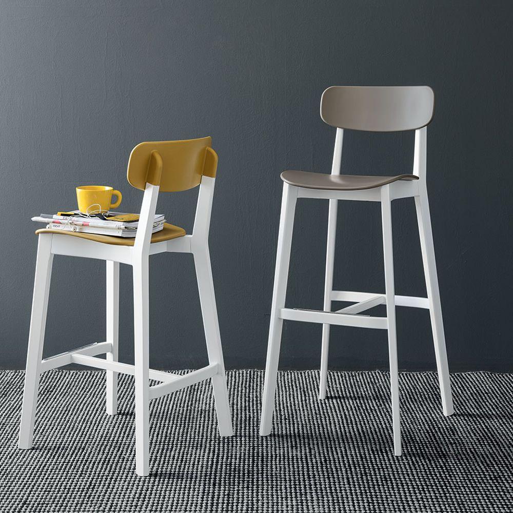 cs1376 cream f r bars und restaurants barhocker aus holz mit sitz aus polypropylen sitzh he. Black Bedroom Furniture Sets. Home Design Ideas
