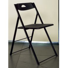 Icon Bis - Domitalia folding metal chair, seat and backrest in polypropylene