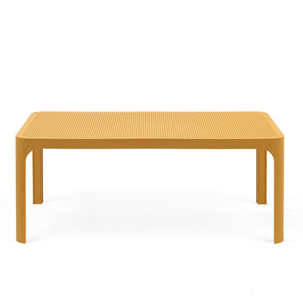 Net table petite table en polypropyl ne 100x60cm aussi for Table exterieur jaune