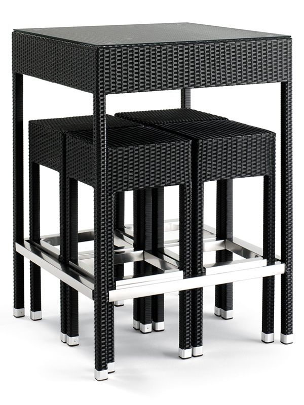 Tt920 juego de jard n con mesa alta y 4 taburetes en - Mesa alta con taburetes ...