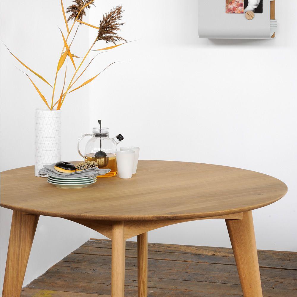 Osso r table fixe ethnicraft en bois disponible en - Table ronde en chene ...