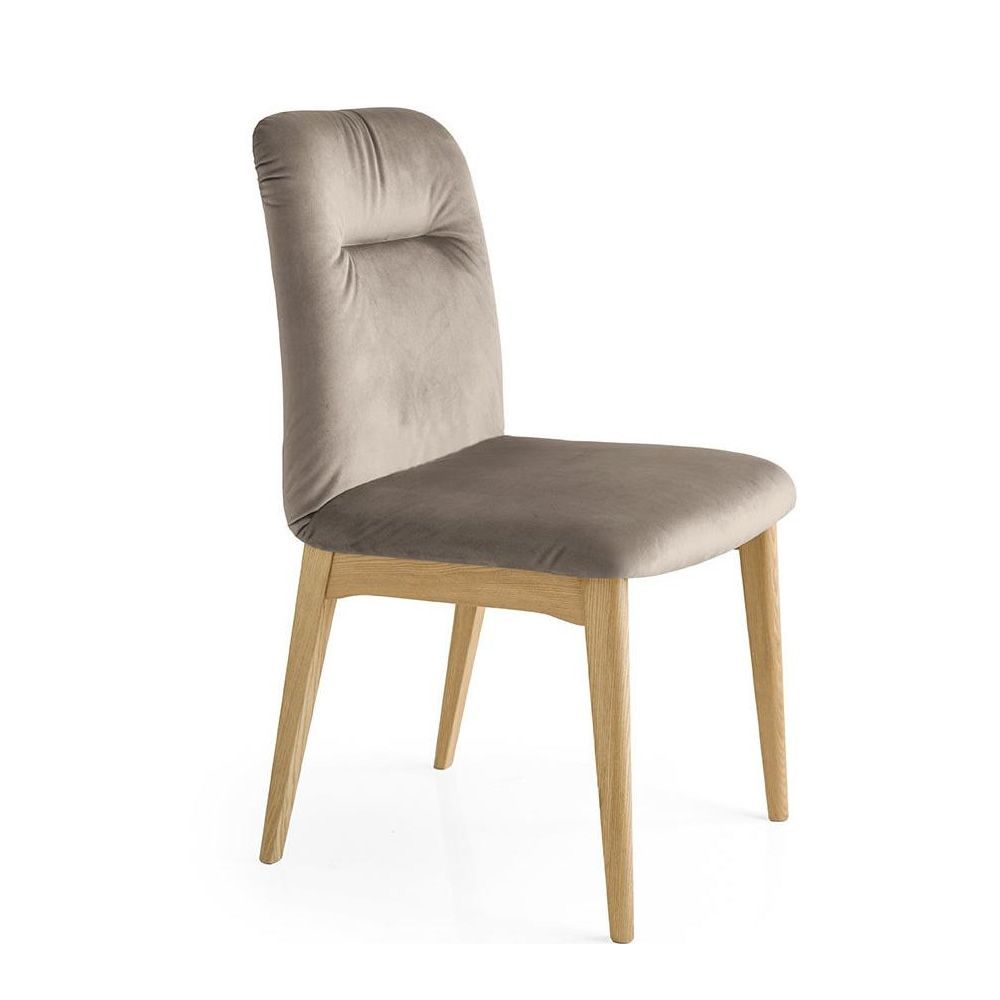 Cb1902 Greta Connubia Calligaris Wooden Chair Covered