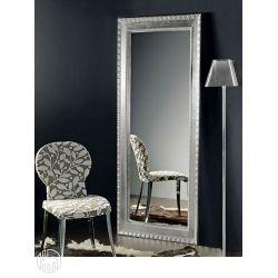 flat l holzspiegel mit einem mit silbernen und goldenen bl ttern verzierten rahmen 70x170 cm. Black Bedroom Furniture Sets. Home Design Ideas