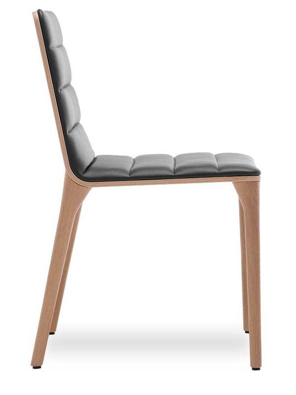 pit w design stuhl von tonon gepolstertes holz verschiedene farben sediarreda. Black Bedroom Furniture Sets. Home Design Ideas