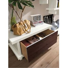 PA2520 - Bench with glass doors or drawer-chest, available in various colours