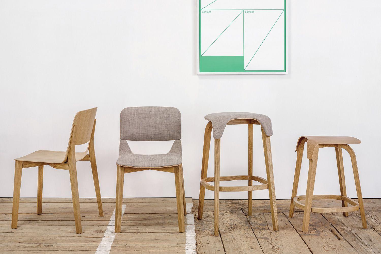 Leaf stool sgabello ton in legno con seduta in legno for Sedie e sgabelli