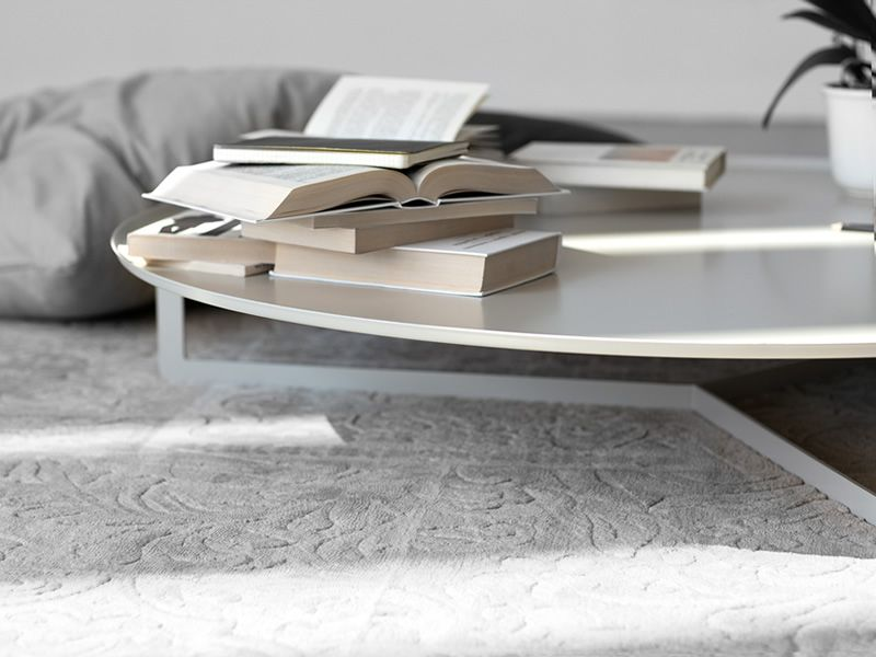 Round2 - Tavolino rotondo di design in metallo, disponibile in ...
