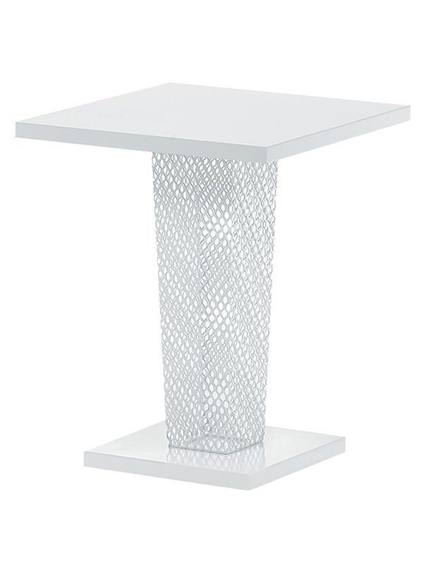 ivy q table emu en m tal plan de travail carr 60x60 cm pour jardin. Black Bedroom Furniture Sets. Home Design Ideas