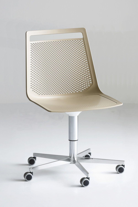 Akami office sedia con ruote girevole e regolabile in for Sedie design tortora