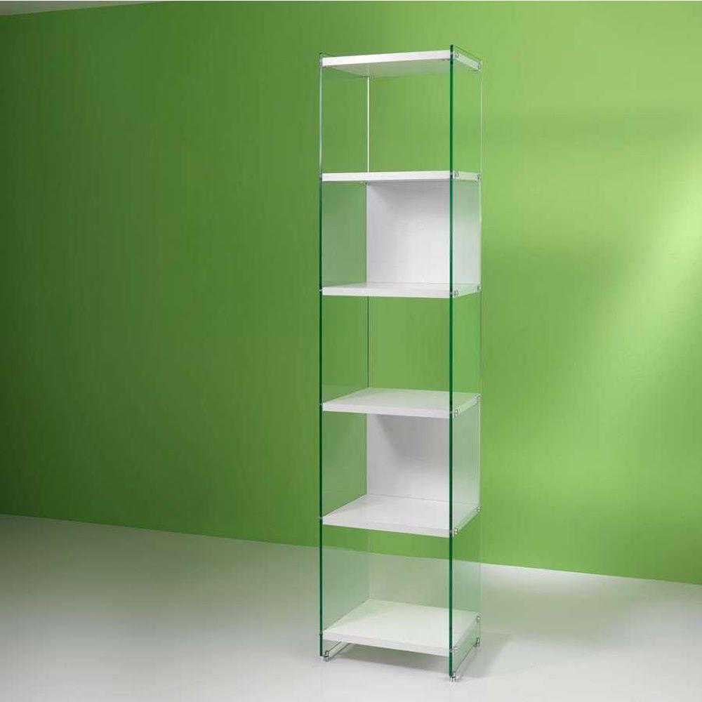 byblos l biblioth que avec des tag res en laminate et c t s en verre diff rentes mesures. Black Bedroom Furniture Sets. Home Design Ideas