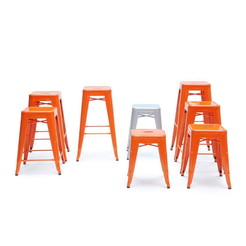 tabourets h for bars and restaurants tolix design stool. Black Bedroom Furniture Sets. Home Design Ideas