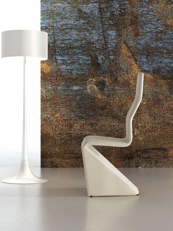 Sara design stuhl mit hoher r ckenlehne mit kunstleder for Design stuhl bequem
