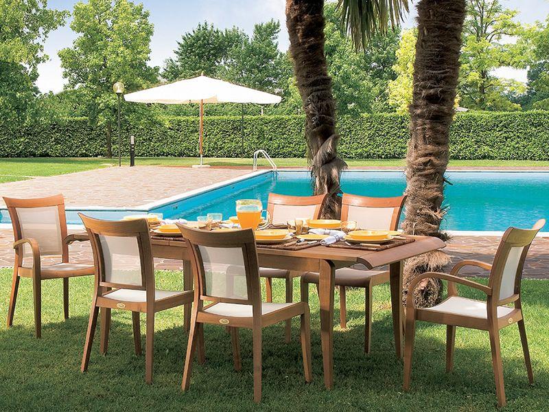 Madison table de jardin en bois de robinier 160 x 94 cm for Jardin madison