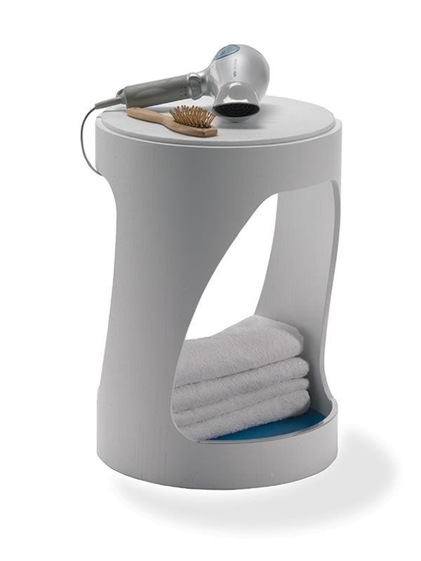 Clip sgabello basso in legno seduta in feltro for Sgabello per il bagno