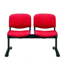 ML100 Panca S - Bench for waiting room with upholstered and covered seats, 2 places, different fabrics in various colors