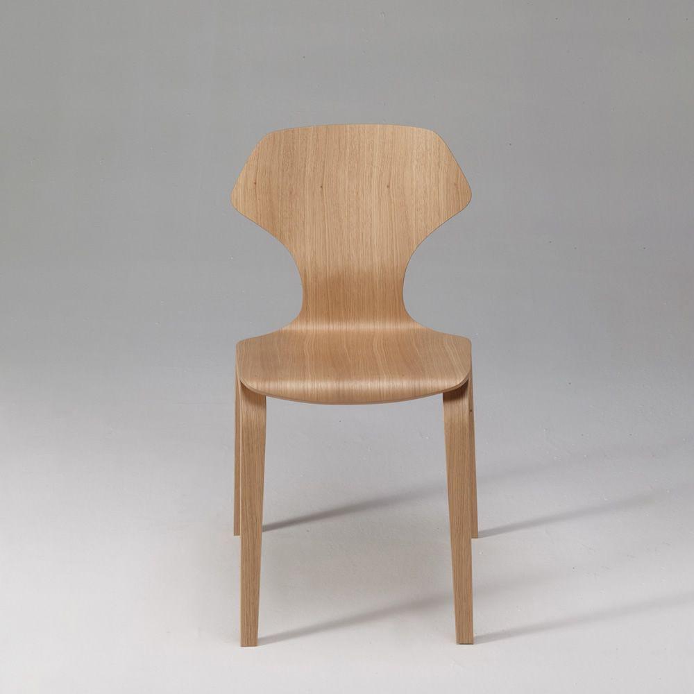Ginger: Designer Stuhl aus Sperrholz Eiche,stapelbar ...