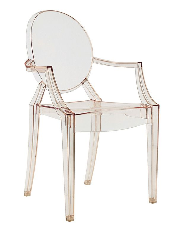 ... Louis Ghost   Louis Ghost Chair By Kartell   Transparent Orange  Polycarbonate ...