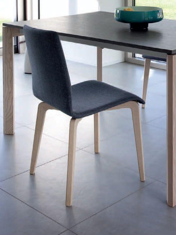 Jude l chaise domitalia en bois assise garnie avec - Assise de chaise en bois ...
