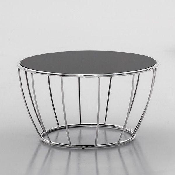 Amburgo 6286 - Tavolino da salotto rotondo in metallo Tonin Casa ...
