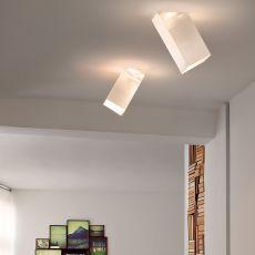 Beetle Cube 60° - Deckenlampe mit Lampenschirm aus Polycarbonat, 60° Neigung, in verschiedenen Farben und Größen verfügbar